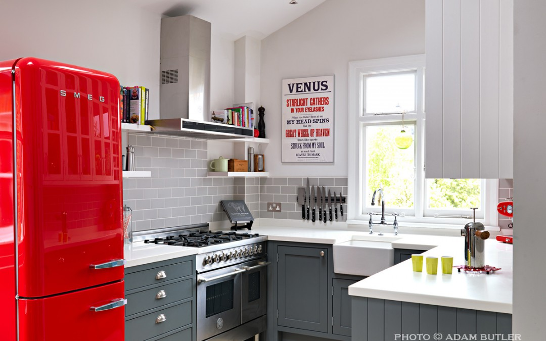 Red Kitchen in Houzz Feature