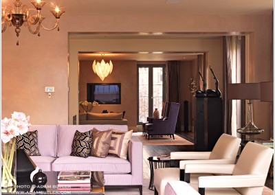 New House in Elystan Street, South Kensington, interior design by Orla Collins/Purple Design Ltd.